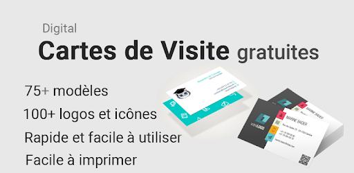 carte de visite gratuite à imprimer Cartes de visite gratuites 75 modèles + Logo Maker ‒ Applications