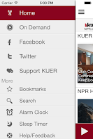 Screenshot of KUER Public Radio App
