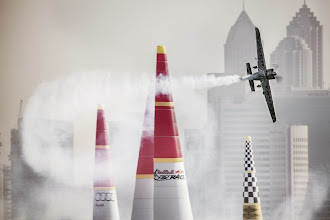 Photo: Hannes Arch of Austria performs during the qualifying for the first stage of the Red Bull Air Race World Championship in Abu Dhabi, United Arab Emirates on February 28, 2014. // Balazs Gardi/Red Bull Content Pool // P-20140228-00361 // Usage for editorial use only // Please go to www.redbullcontentpool.com for further information. //