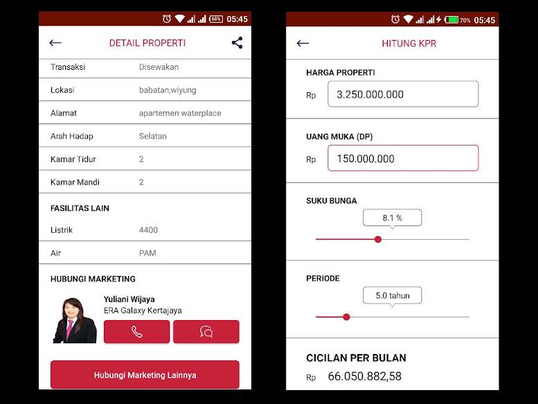 Beberapa fitur ERA Galaxy App