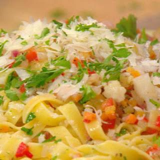 Pasta with Giardiniera Sauce.