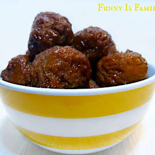 Grape Jelly Meatballs.