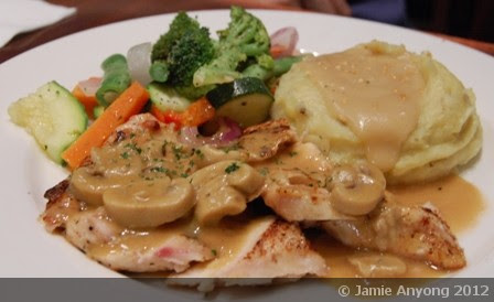 grilled chicken with mushrooms