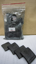 Photo: Bamboo charcoal (this small piece is added into a glass of water for health benefits)
