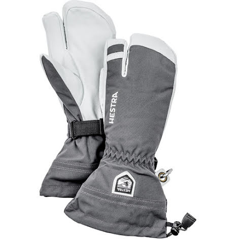 Army Leather Heli Ski Grå 3-Fingerhandske