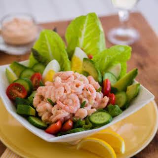 The California Shrimp Louie Salad.