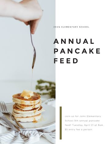Annual Pancake Feed - Flyer template
