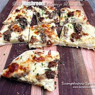 Wild Mushroom & Sausage White Pizza