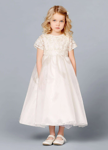 08-382-CR-116 Flower Girl Dress Lilly