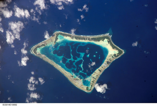 Satellite picture of the Atafu atoll in Tokelau