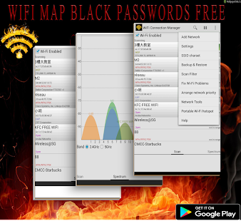 wifi map black passwords free - náhled