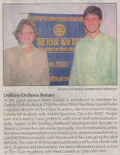 Photo: Mimi Lundell with President Ethan Hutchins - Notice that Ethan is again not wearing a tie - September 11-13, 2006