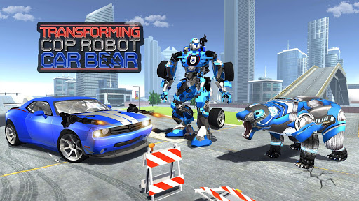 US Police Bear Robot Transform: Bear Games for PC