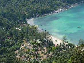 Photo: Ko Phangan - Bottle beach, viewpoint from the rock at the top on Bottle beach