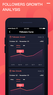 Followers Stats for Instagram & Report+ & tracker Screenshot