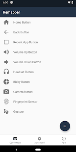Remap buttons and gestures Screenshot
