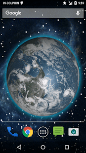 3D Moving Earth Live Wallpaper 2