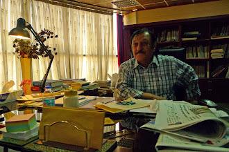Photo: Rauf Begard, writer, translator, director of the Serdem Institute in Suleymaniya and editor in chief of Serdem journal, 2014