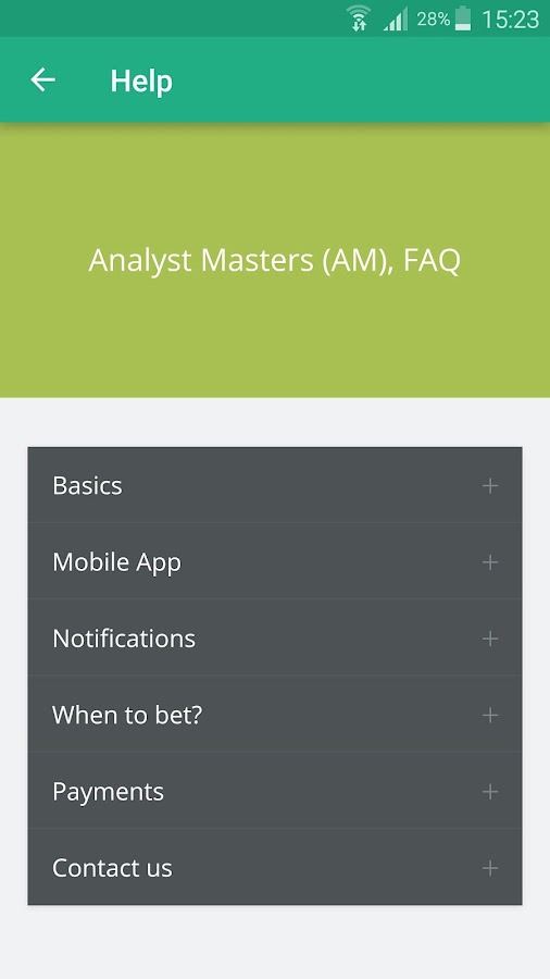 Analyst Masters, Soccer Tips- screenshot