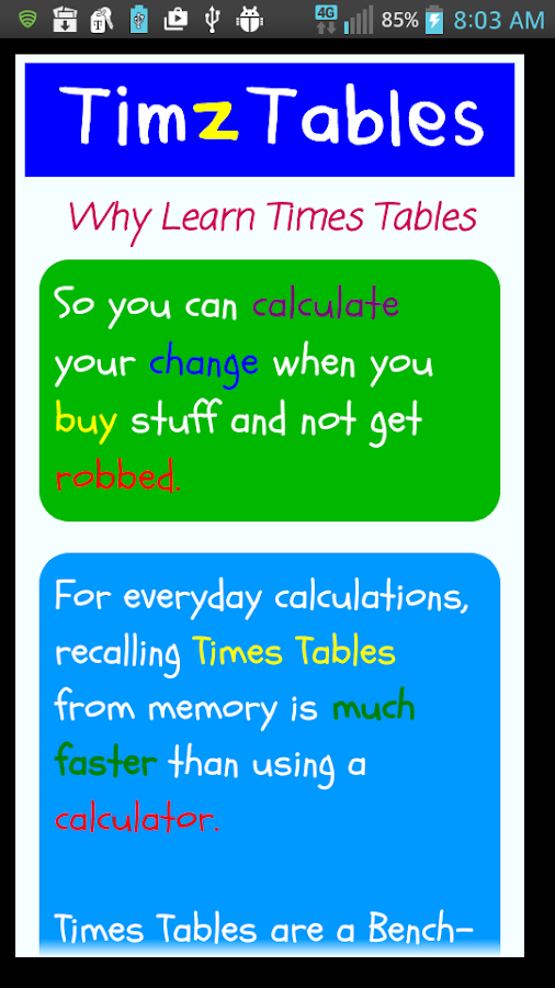 TimzTables 12 Times Tables- screenshot