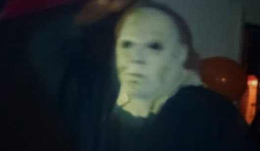 my dad in a myers masks
