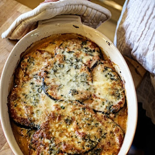 Eggplant Gratin with Herbs and Creme Fraiche.