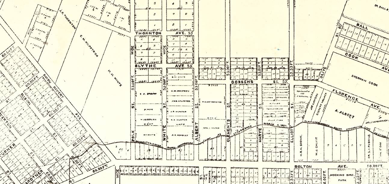 1904 Sylvester's Map of Alexandria, Louisiana