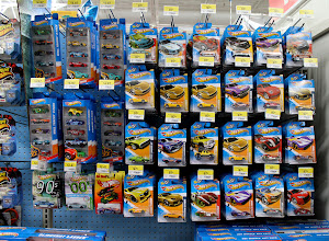 Photo: Of course I had to check out the Hot Wheels since we were in the toy department.