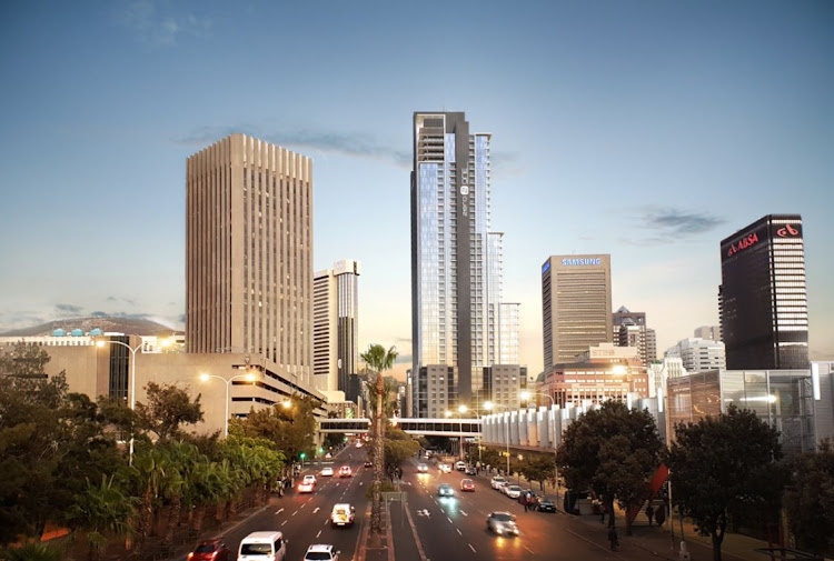 Artist's impression of what the Zero-2-One Tower will look like on the corner of Strand and Adderley Streets in Cape Town.