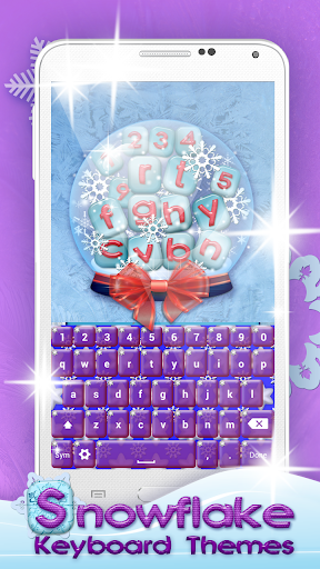雪のキーボード