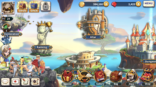 WITH HEROES - IDLE RPG screenshots 7