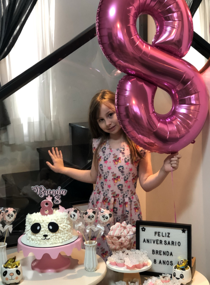 decoração de aniversário tema panda rosa simples