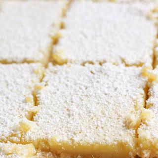 Healthy Lemon Bars with Gluten-Free Almond Crust.