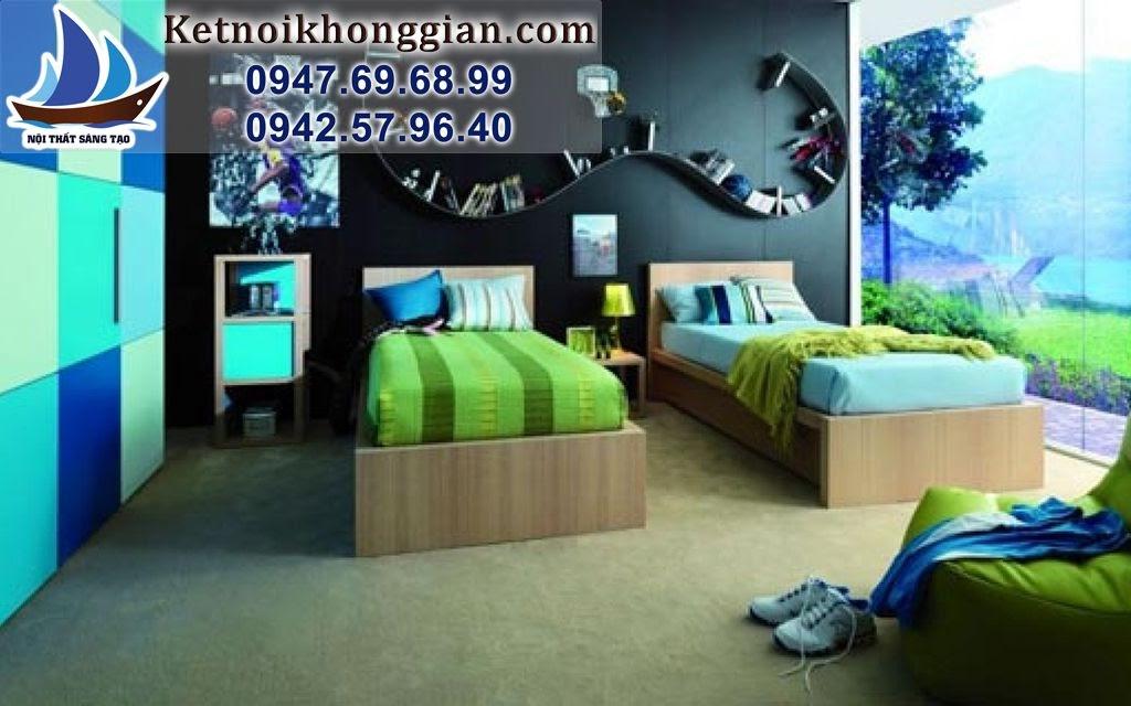 thiết kế nội phòng ngủ bé trai sáng tạo
