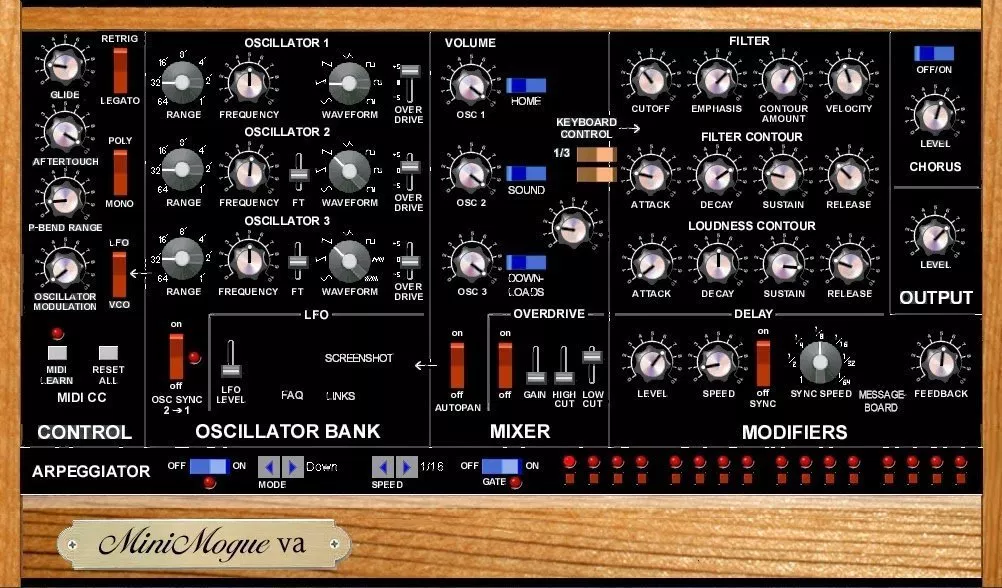 free synth vst minimogue