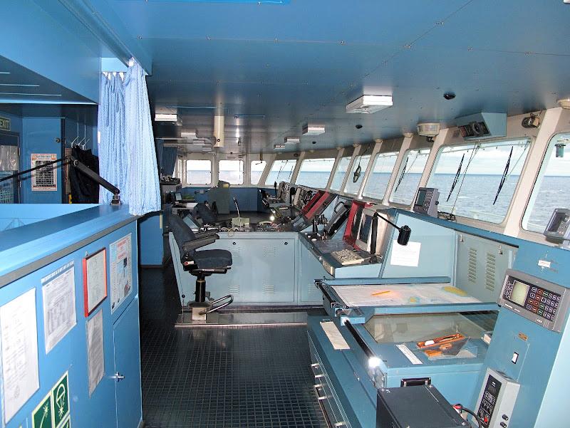 La plancia di una nave di manolina