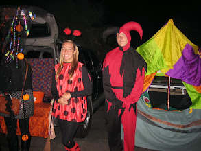Photo: Lady bug and a Jester--awesome!