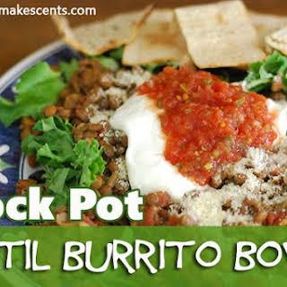 Crock Pot Lentil Burrito Bowls.