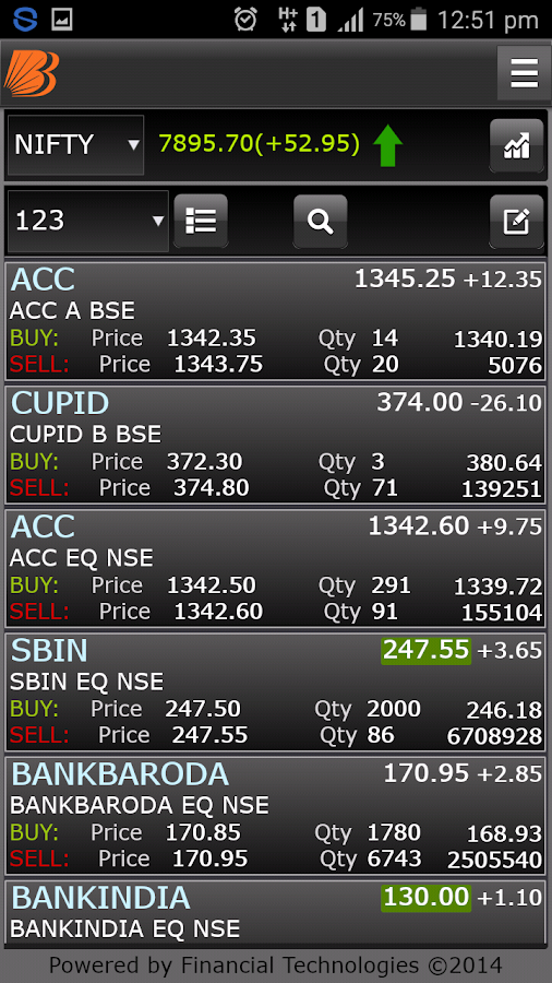Baroda eTrade Mobile- screenshot