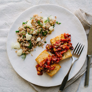 Bulgur Salad with Cauliflower, Herbs, and Pistachios.