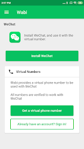Wabi – Virtual Number for WeChat 1