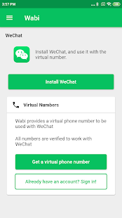 Wabi - Virtual Number for WeChat on Windows PC Download Free