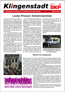 Faksimili: Klingenstadt, Titelseite.