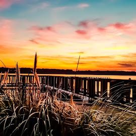 A York River Sunset  by Gina Jordan Morrison - Novices Only Landscapes