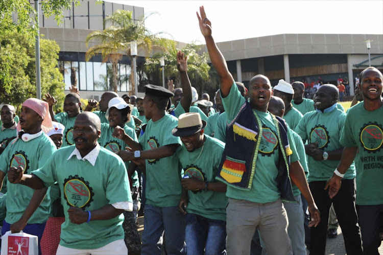 AMCU members. File image.