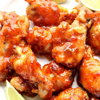 Sweet and Spicy Crock-Pot Chicken Wings.