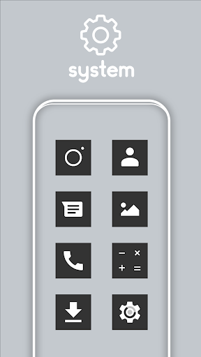 Square Dark UI - Icon Pack screenshot 1