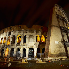 The Colosseum  by Lorraine Paterson - Travel Locations Landmarks ( colosseum, rome, night shot, italy, photography )