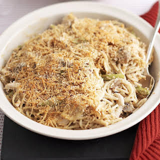 Baked Pasta with Chicken and Mushrooms.
