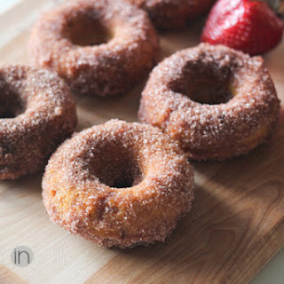 Pumpkin Strawberry Doughnuts
